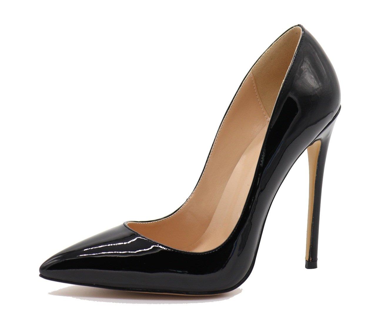 ELASHE - Zapatos de Mujer Tacon Alto - 12 CM Clásicas Tacones Altos - Boda Wedding Cerrado Mujer 40 EU|Beige