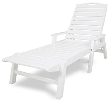 Amazoncom POLYWOOD NCC2280WH Nautical Chaise with Arms