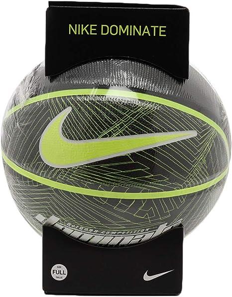 Nike Dominate 8P Full Size Basketball (Black/Volt): Amazon.es ...