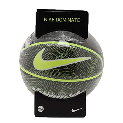 Nike Dominate 8P Full Size Basketball (Black/Volt): Amazon.es ...