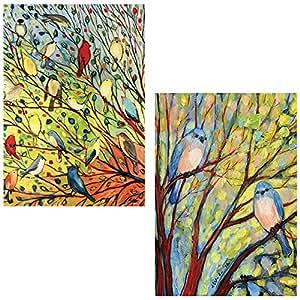 Toland Home Garden pequeño (12,5x 18) (bandera 2unidades–árbol de Aves–pájaros–2Paquete por Maven Regalos
