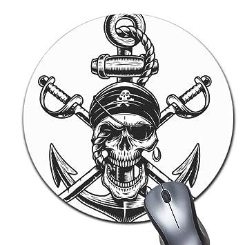 Alfombrilla de ratón Redonda con diseño de Calavera Pirata y ...