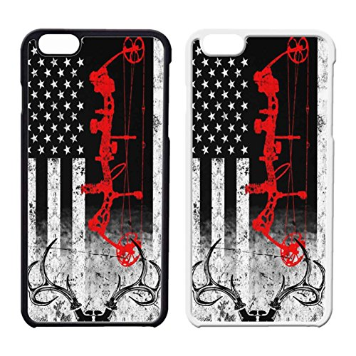 Bow Hunting Usa Flag IPhone Case Iphone 6 Case or Iphone 6S Black Plastic - Rates International Standard Shipping Usps