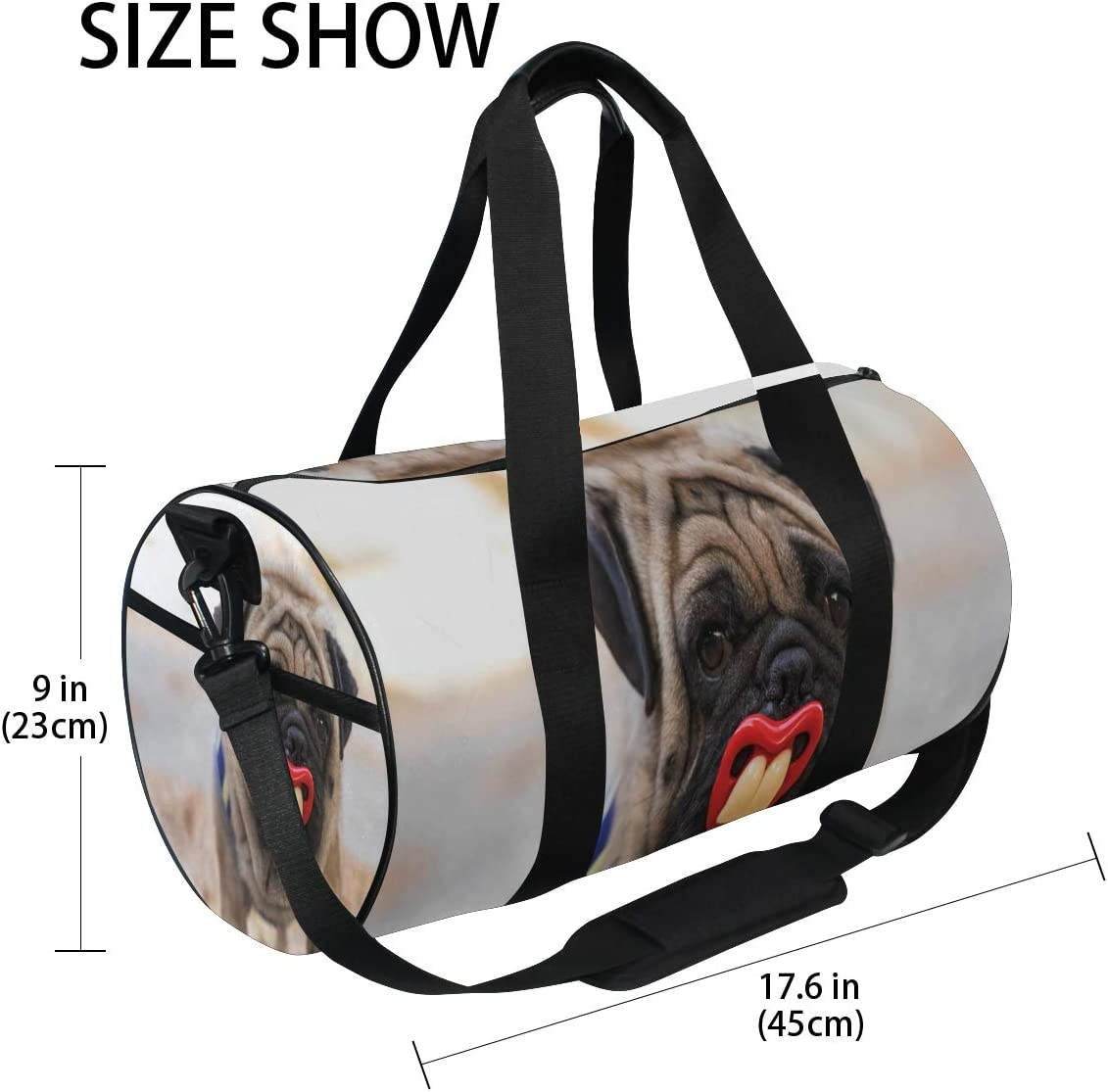 Duffel Bags Pug With Braces Womens Gym Yoga Bag Small Fun Sports Bag for Men