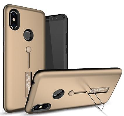 cheap for discount a42ae d0d93 Bounceback Xiaomi Mi Redmi Y2 TPU + Pc Dual Layer Stand & Finger Holder  Back Cover Case for Xiaomi Mi Redmi Y2 -Matte Gold