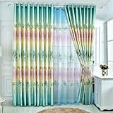 TIANTA- A Set Of 2 Pcs Bedroom Living Room Balcony Semi-shading Satin Fabric Curtain Simple Modern Finished Product decorate ( Size : 2.92.7m (widthheight) )