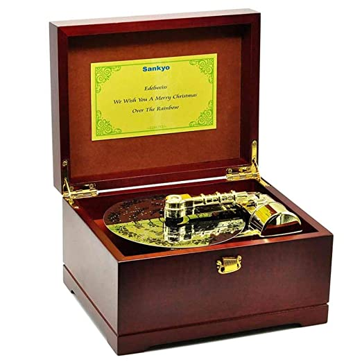 KAIDIBOX Navidad Caja Musical Tono Madera Disco Caja de música ...