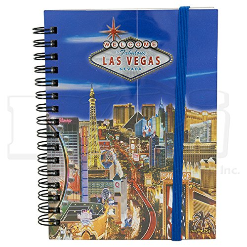 SMALL LAS VEGAS NOTEBOOK, FOILED/METALLIC BLUE BACKGROUND (APPROX 4.5
