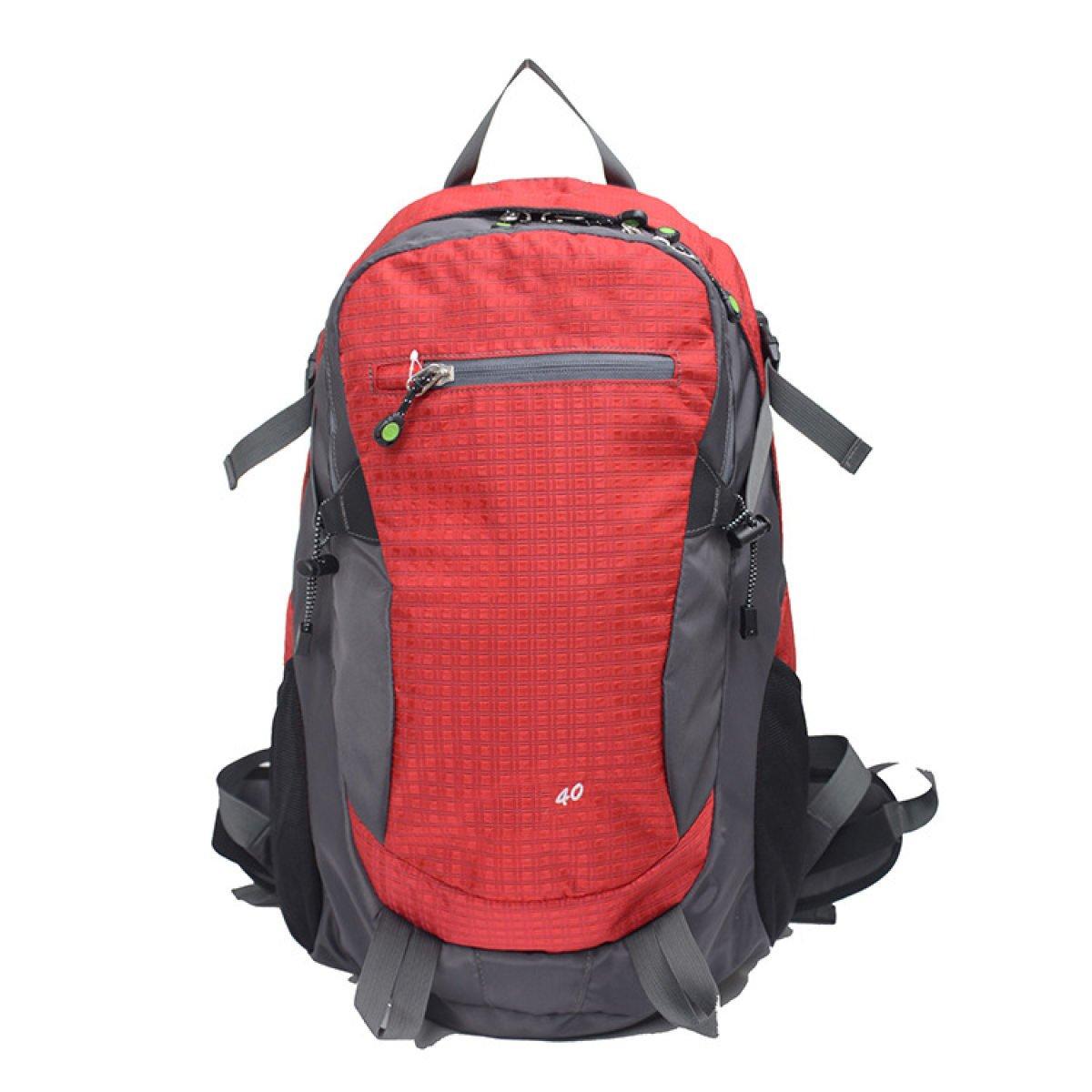 Sport-im Freienpaket-heller Gewicht-Verlust-Bergsteigen-Beutel-gehende Doppelte Schulter-Beutel,ROT
