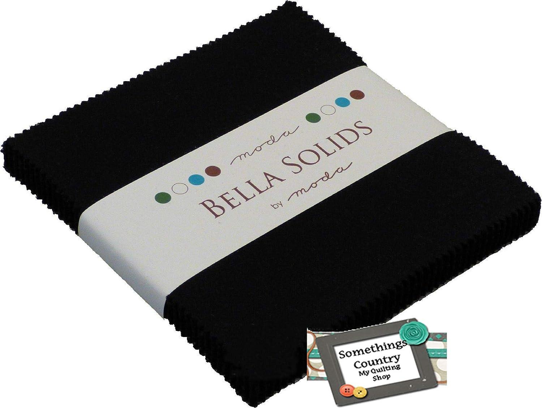 Bella Solids Blacks Moda Charm Pack by Moda Fabrics; 42-5