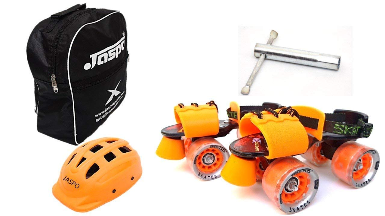 Jaspo Thunder Thorns Dual Adjustable Senior Roller Skates Combo Suitable for Age Group 6 to 14 Years