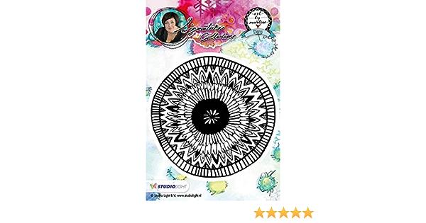 07 10 x 10 cm Cling Stamp Flowers Nr Art by Marlene