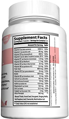 ... Biotin Calcium Iron Vitamin B Zinc Fenugreek Boosts Energy Easy on Stomach for Breastfeeding Mothers and Pregnant Women 3 Bottles 60 Capsules: Health ...