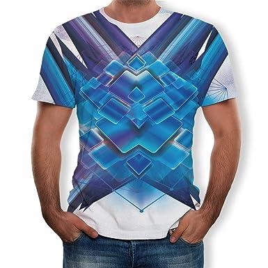 YpingLonk Camiseta Hombre Pareja Primavera y Verano 3D Manga Corta ...