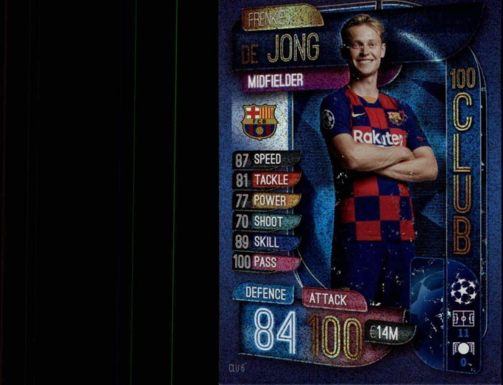 Amazon Com 2019 20 Topps Uefa Champions League Match Attax 100 Club Clu 6 Frenkie De Jong Fc Barcelona Official Futbol Soccer Trading Card Game Playing Card Collectibles Fine Art
