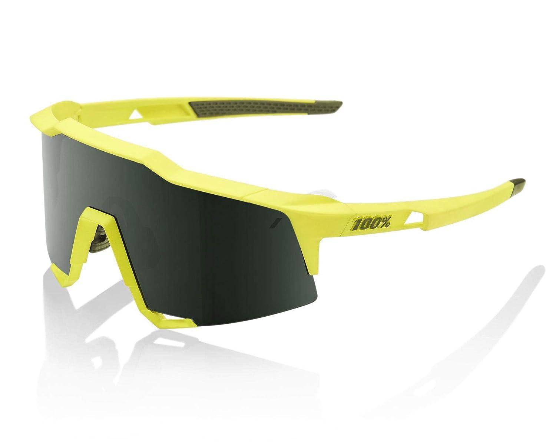 100%(100パーセント) サングラス Speedcraft スピードクラフト (61001-000~100) [並行輸入品]  フレーム: Soft Tact Banana / レンズ: Grey Green B07RZXNY9C