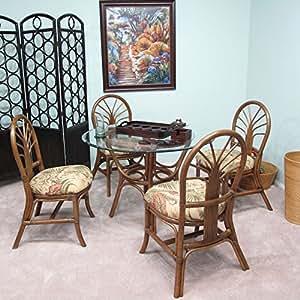 Amazon Com Premium Rattan Dining Furniture Sundance 5pc