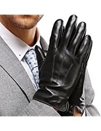 Best Touchscreen Nappa Genuine Leather Gloves for men's...
