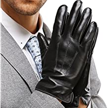 Harrms Best Touchscreen Nappa Genuine Leather Gloves for men's Texting Driving Winter Cold Weather Gloves