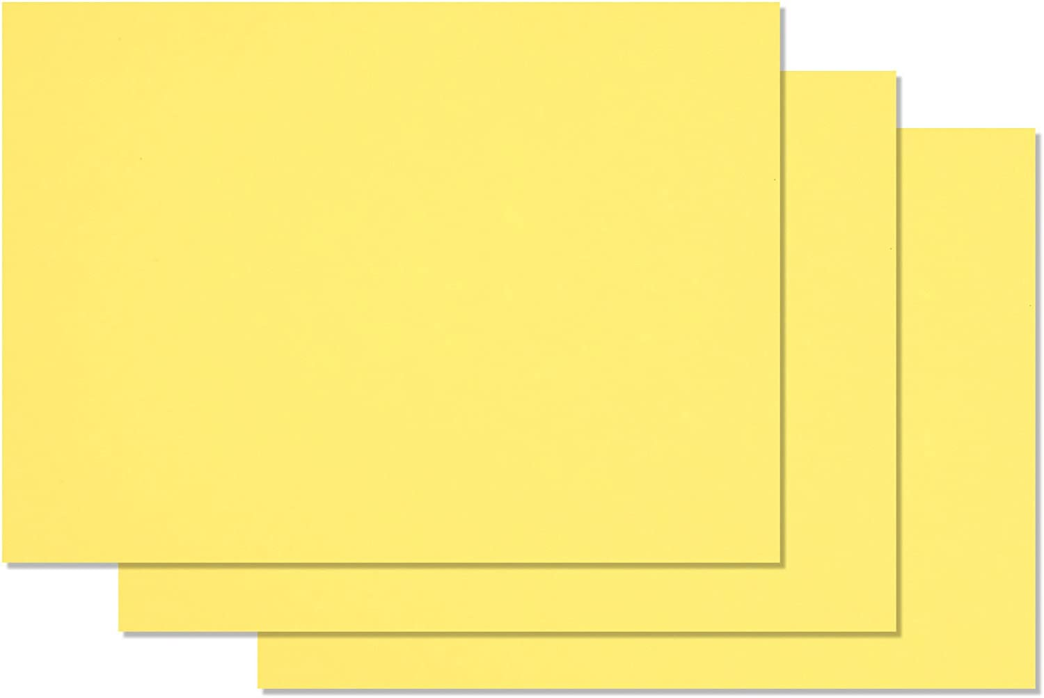 Premium Colored Blank 5x7 Card Stock (50, Banana Split) : Office Products