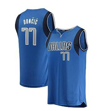 BJerspo Bordada Mavericks de Doncic #77 Fan Jersey de Hombre Adulto (Azul, XXL): Amazon.es: Deportes y aire libre
