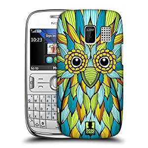 Head Case Designs Owl Fanciful Creatures Protective Snap-on Hard Back Case Cover for Nokia Asha 302