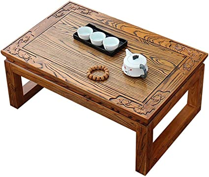 Living Room Coffee Tables Solid Wood Coffee Table Carved Window Table Tatami Coffee Table Study Chess