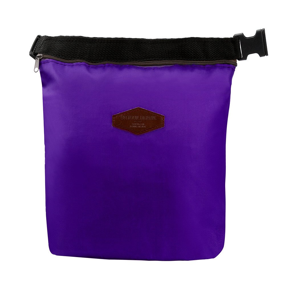 KFSO Lunch Bag Clearance Sale! Waterproof Thermal Cooler Insulated Tin Foil Lunch Box Portable Tote Storage Picnic Bags (Purple)