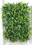 Artificial greenery topiary mixed Hedge screen with Fern, Vine, Ivy and Boxwood Panel 16'' x 24'' (Pack of 4)