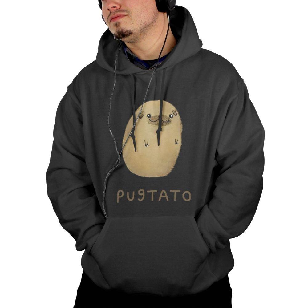 Pugtato Men Hooded Sweatshirt With Pocket