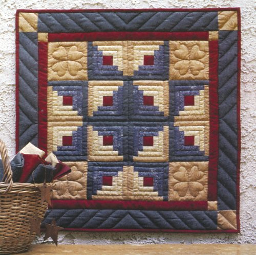 Log Cabin Star Wall Hanging Quilt Kit-22''X22'' 1 pcs sku# 642120MA by Rachel's Of Greenfield
