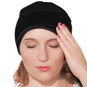 Headache and Migraine Relief Hat by Tilcare - Cooling Cap with Soft After Frozen Ice Pack - Flexible and Adjustable - Suitable for hot or Cold Therapy - Perfect for Easing Pain Caused by Chemotherapy