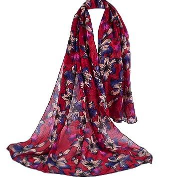 7cb3923f5284bb ABsoar Schal Damen Mode Frauen Farbe Schals Sexy Halstücher Quadratischer  Weicher Wickelschal Seidenschal Schals und Tücher