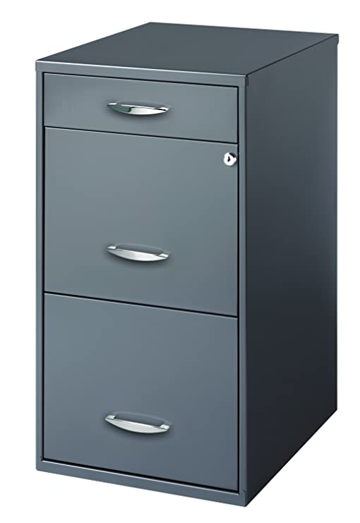 Unique Black 2 Drawer File Cabinet