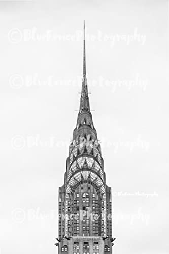 Top Of The Chrysler Building Architectural Photography Black And White New York City