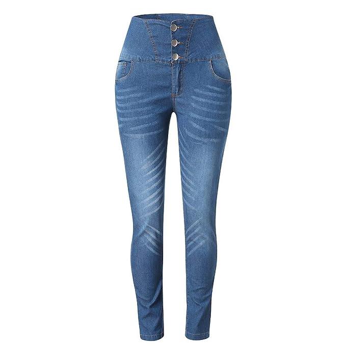 NPRADLA Vaqueros Jeans Tendencia Mujeres otoño elástico ...