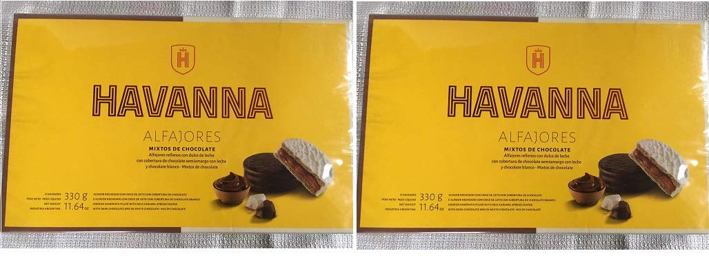 Amazon.com : Alfajores Havanna Mixtos Chocolate Negro y & Choc.Blanco c/ dulce de leche x 6-2 PACK : Grocery & Gourmet Food