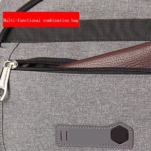 De Hombres Para De Comercial Gran Hombres Lightgray Oxford Capacidad Para Computadora De Bolso Tela Tela De Bolso fUqXPYn