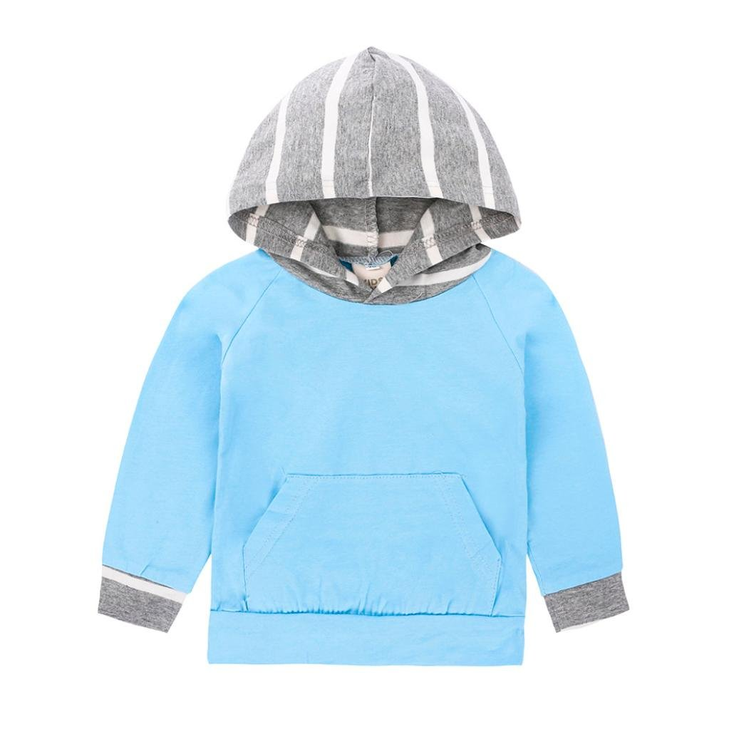 Gotd Baby Boy Clothes 2pcs Set Outfits Striped Hoodie Tops+Pants