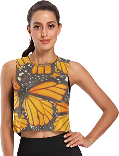 Butterfly Tank Top Workout Clothes for Women