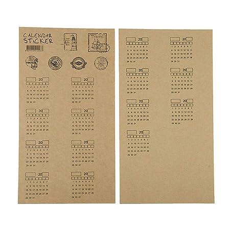 Calendarios de Pared Calendarios de Escritorio 4 Hojas 2020 Papel ...