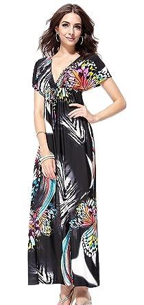 b27834804943 Women's Chiffon Halter Bohemian Maxi Dress Summer Beach Sundress Size 2XL