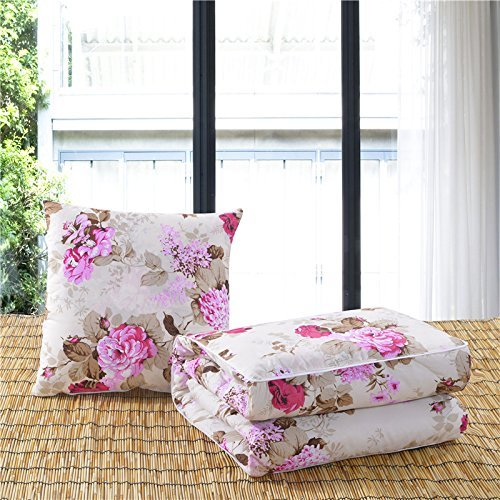 HOMEE Two Multi-Cushion by a Car Pillow Quilt Lovely Cartoon Foldable Pillows Are Air-Conditioning of Offices Were ,50X50, Baseball Xiong,Dance Love,50X50 by HOMEE