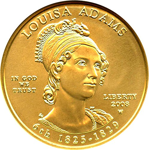 2008 W $10 First Spouse Louisa Adams Ten Dollar MS70 NGC