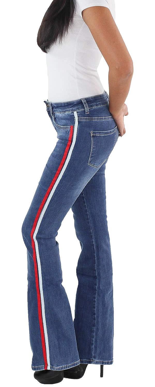 Schwarze Straight Leg Hose mit Seitenstreifen Schlaghosen