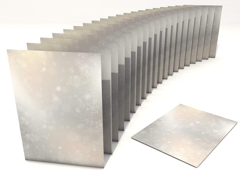 Weihnachts-Briefpapier Set Tanzende Flocken 50 Blatt A4 und 50 Briefumschl/äge ohne Fenster