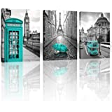 Paris Decor Wall Art for Bedroom London Big Ben Tower Canvas Prints Pictures for bedroom Black and White Morden Canvas…