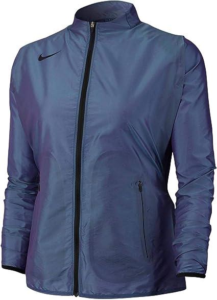 Nike W NK JKT FTR Air Veste Femme, RougeJauneNoir (Bright