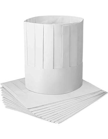 12 Pezzi Monouso 9 Pollici Cappello da Cuoco in Carta Set Regolabile Cucina  Cappelli da Chef 3c7ff2422f46