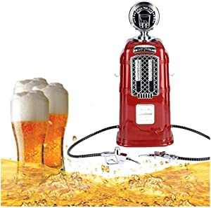 Handmade Glass Wine Decanter, Double Gun Beer Pump, 1080mL Large Capacity Whiskey Gas Station, Beverage Dispenser, Suitable forcocktail Wine Vodka Various Liquid Drinks Wine Accessories